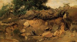Jean Baptiste Camille Corot - Quarry of the Chaise-Mre at Fontainebleau