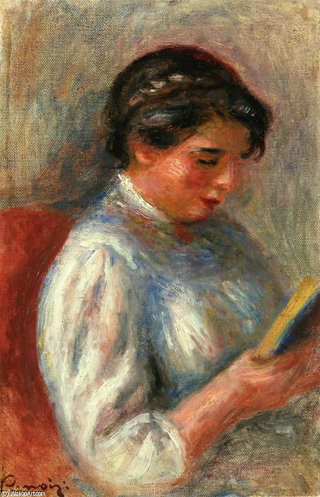 Order Oil Painting : The Reader by Pierre-Auguste Renoir | AllPaintingsStore.com