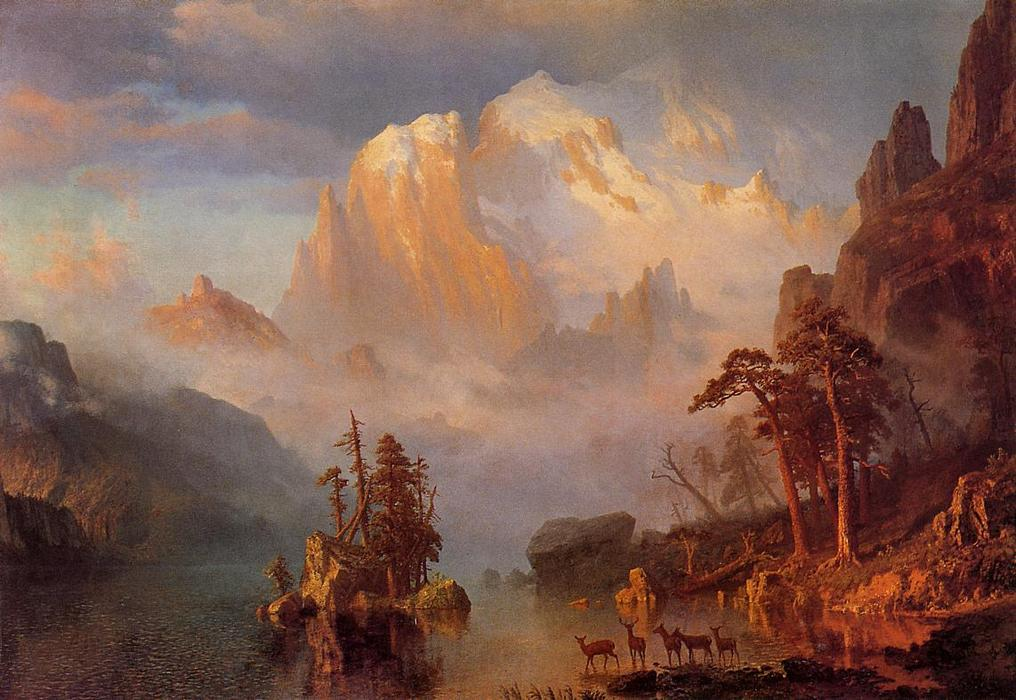 famous painting Rocky Mountains of Albert Bierstadt