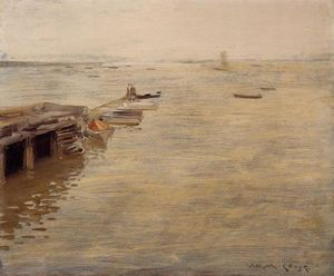 William Merritt Chase - Seashore (also known as A Grey Day)