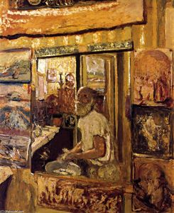 Jean Edouard Vuillard - Self-Portrait in the Dressing-Room Mirror