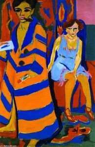 Ernst Ludwig Kirchner - Self-portrait with Model