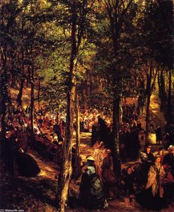 Adolph Menzel - Sermon in the Beechwood at Kösen