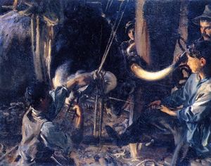 John Singer Sargent - Shoeing the Ox