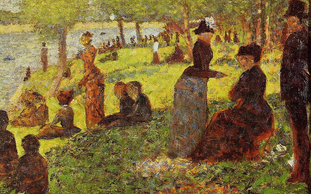 famous painting Sketch with Many Figures of Georges Pierre Seurat