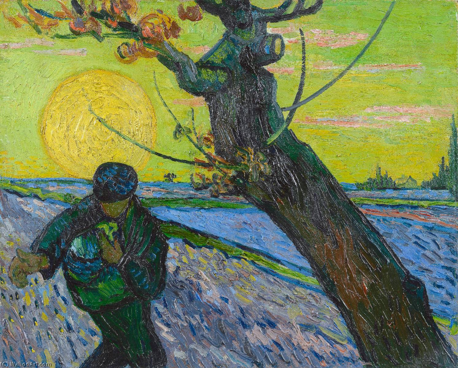 famous painting The Sower of Vincent Van Gogh