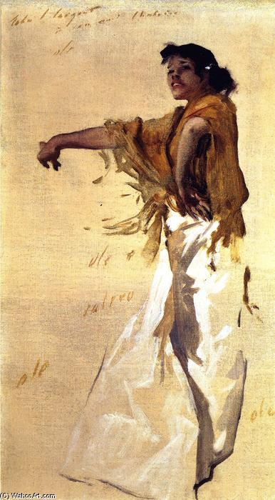 Spanish Gypsy Dancer by John Singer Sargent | Painting Copy