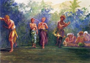 John La Farge - Standing Dance, Standing Figures (also known as Standing Dance Representing a Game of Ball)