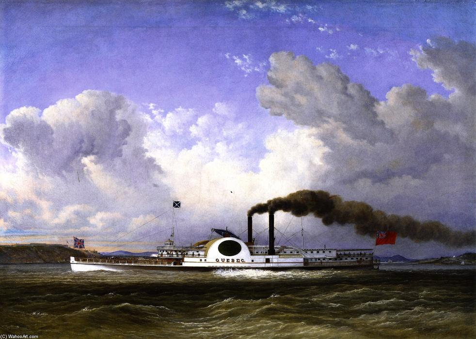 famous painting The Steamship 'Quebec' of Cornelius David Krieghoff