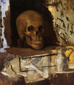 Paul Cezanne - Still Life: Skull and Waterjug