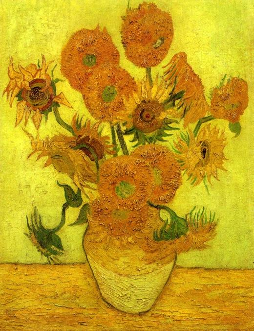 famous painting Still Life: Vase with Fourteen Sunflowers of Vincent Van Gogh