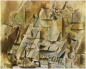 Georges Braque - Still Life with a Bunch of Grapes