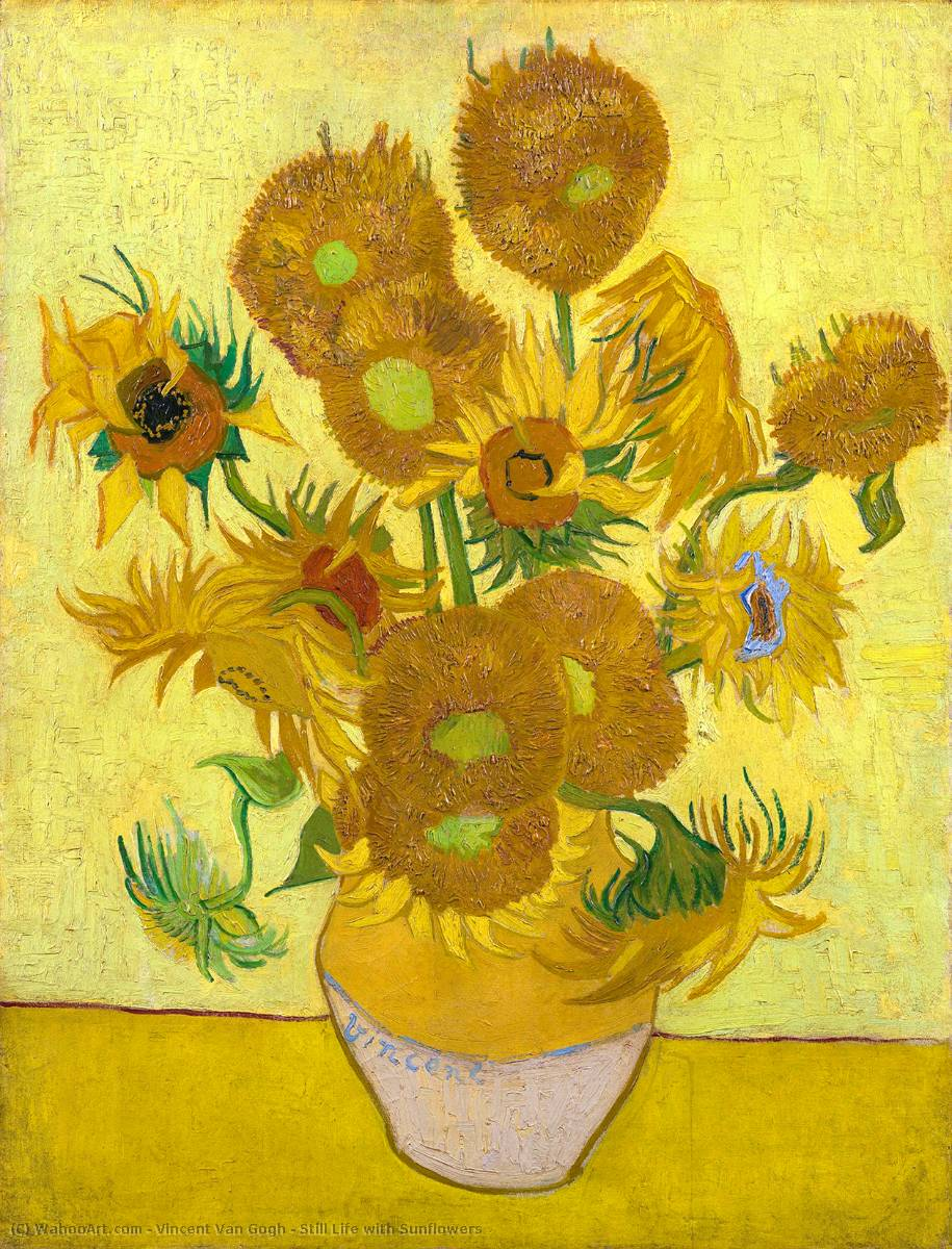 famous painting Still Life with Sunflowers of Vincent Van Gogh