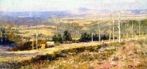 Frederick Mccubbin - Study in Blue and Gold (also known as Figure on a Hillside in a Summer Landscape)