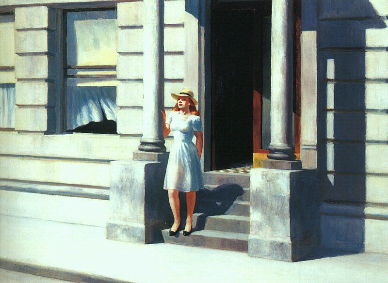 famous painting Summertime of Edward Hopper
