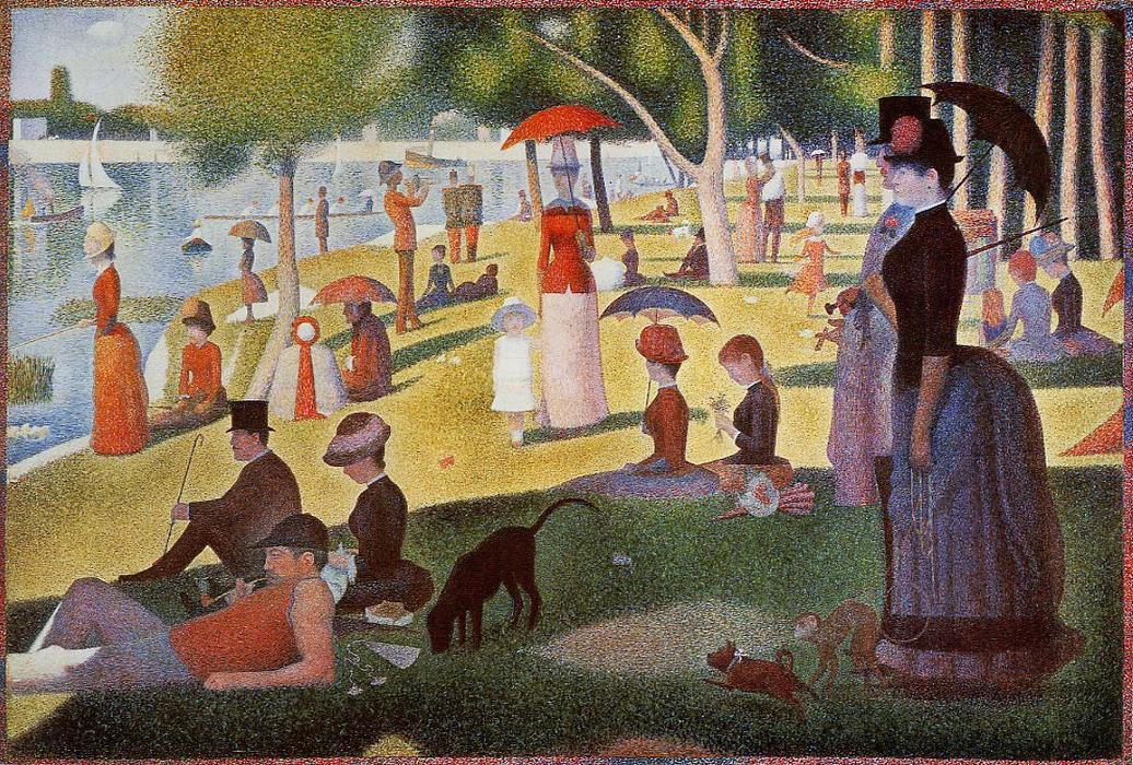 Order Art Reproduction : A Sunday Afternoon on the Island of La Grande Jatte by Georges Pierre Seurat | AllPaintingsStore.com