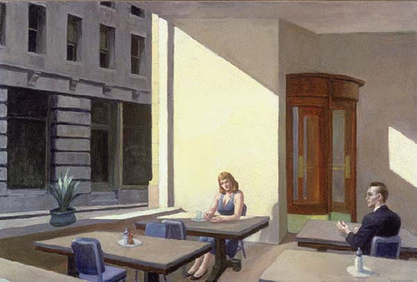 famous painting Sunlight in a Cafeteria of Edward Hopper