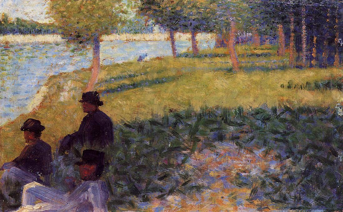famous painting Three Men Seated of Georges Pierre Seurat