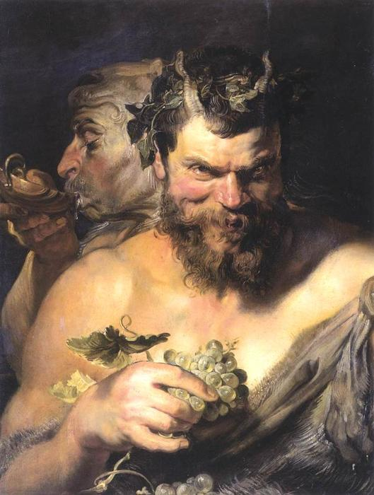 famous painting Two Satyrs of Peter Paul Rubens