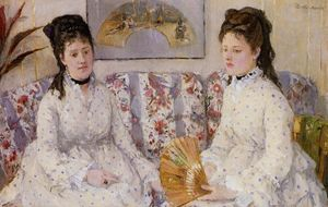 Berthe Morisot - Two Sisters on a Couch (also known as The Sisters)