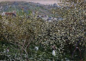 Claude Monet - Vetheuil, Flowering Plum Trees