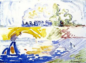 Paul Signac - The Viaduct, Asnieres