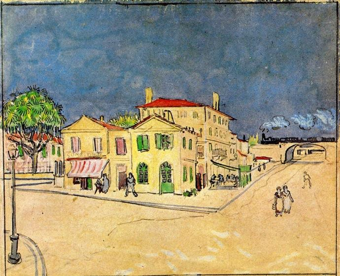 Order Museum Quality Copies | 'Vincent's House in Arles (also known as The Yellow House)' by Vincent Van Gogh | AllPaintingsStore.com