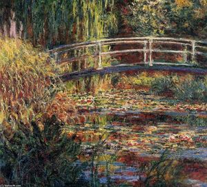 Claude Monet - Water-Lily Pond, Symphony in Rose