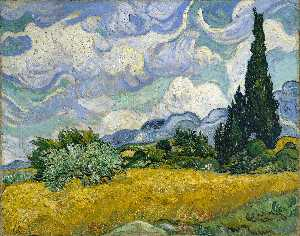 Vincent Van Gogh - Wheat Field with Cypresses at the Haude Galline near Eygalieres