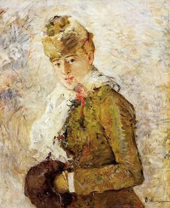 Berthe Morisot - Winter (also known as Woman with a Muff)