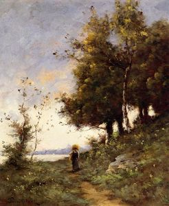 Paul Désiré Trouillebert - Woman on a Path