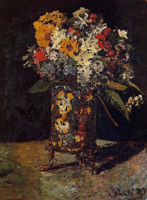 famous painting Bouquet of Flowers of Adolphe Joseph Thomas Monticelli