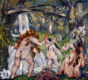 Paul Cezanne - Three Bathers