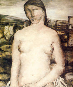 Paul Delvaux - Large Nude Pink