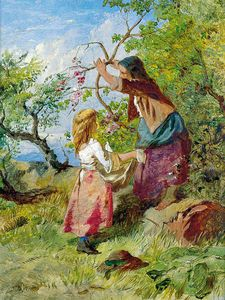 William Henry Midwood - Fruit Picking