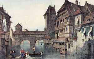 Samuel Prout - Nuremberg Executioner Tower Water Tower