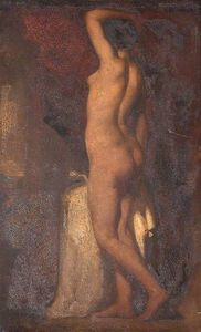William Etty - A Standing Female Nude