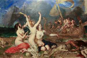 William Etty - The Sirens And Ulysses