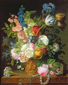 Jean Louis Prevost - Still Life With Flowers