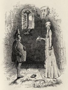 John Leech - The Ghost, From 'the Ingoldsby Legends'