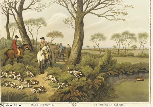 famous painting Orme's Collection Of British Field Sports - Eight Plates of Samuel Howitt