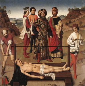 Aelbrecht Bouts - Martyrdom Of St Erasmus (central Panel)