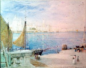 Albert Goodwin - Venice, Before The Campanile Fell