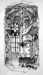 Carl Haag - A Sketch Of The Artist's Oberwesel Studio