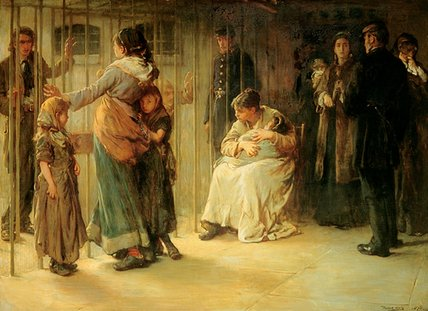 famous painting Newgate - Committed For Trial - of Francis Montague Holl