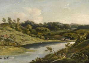 William Payne - River In Devon