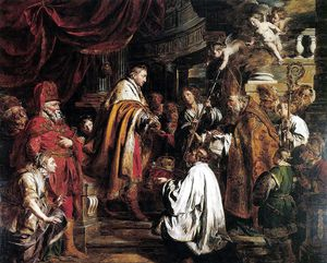 Pieter Jozef Verhaghen - Saint Stephen Hungarian King Receives The Pope's Envoys Who Bring The Crown
