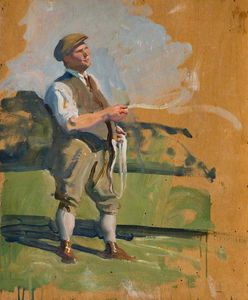 Alfred James Munnings - Study Of A Groom