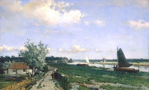 Jan Weissenbruch - The Trekvliet Near The Hague