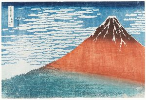 Katsushika Hokusai - Mount Fuji Viewed During A Fine Wind On A Clear Morning